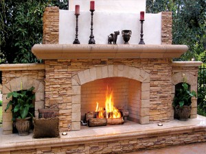 san diego outdoor fireplace