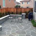 San Diego brick and flagstone patio