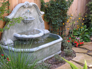 San Diego fountain landscape design trends 2015
