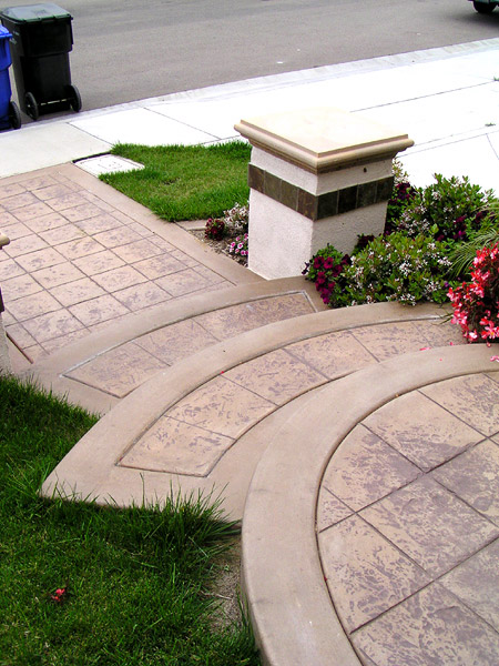 San Diego Colored and Stamped Concrete