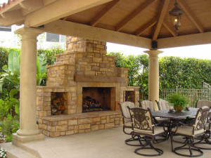 San Diego outdoor fireplaces