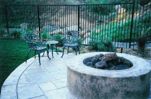 San Diego natural gas fire pit