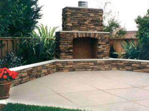 Fire hearth in San Diego