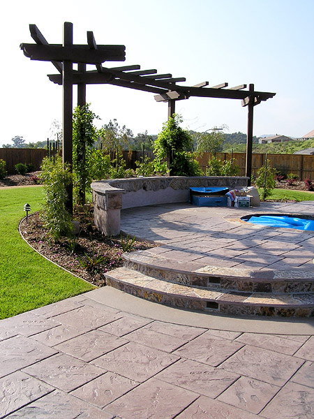 stamped concrete patio San Diego CA