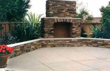 stone outdoor fireplace San Diego CA
