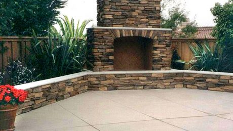 stone outdoor fireplace San Diego CA
